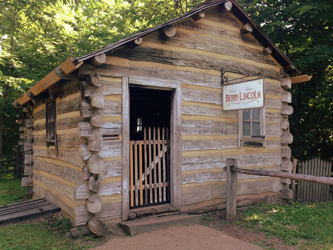Log cabin at Lincoln's New Salem
